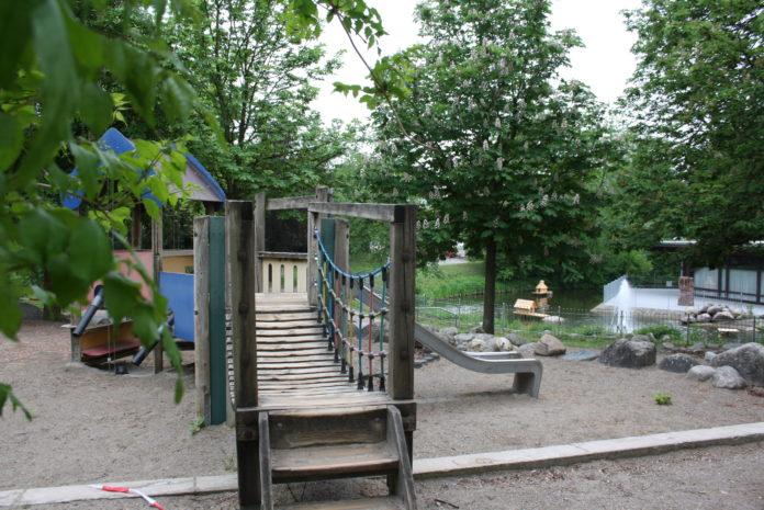 Ab Mittwoch wieder offen: Müllheims Spielplätze - auch der Spielplatz am Bürgerhaus.